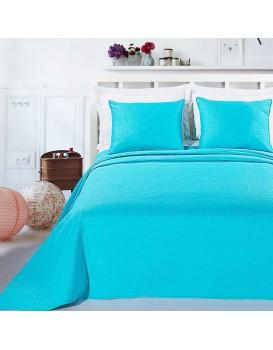 Přehoz na postel DecoKing Elodie tyrkysový + povlaky na polštáře