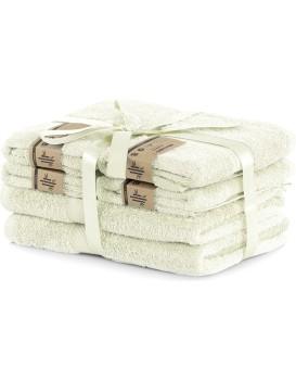 Set 2 osušek a 4 ručníků DecoKing Bella ecru