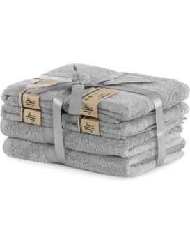 Set šedých ručníků DecoKing BAMBY