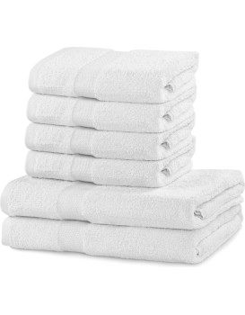 Sada 2 osušek a 4 ručníků DecoKing Ginna bílé
