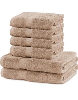 Sada 2 osušek a 4 ručníků DecoKing Ginna béžové