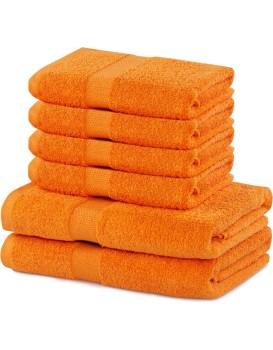Sada 2 osušek a 4 ručníků DecoKing Ginna oranžové