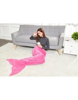 Deka z mikrovlákna mořská panna DecoKing Siren amarantová