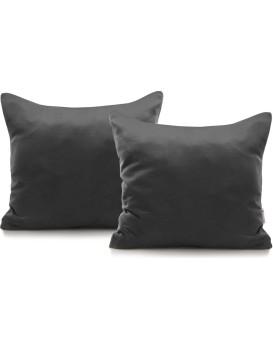 Povlaky na polštáře Decoking Terro 40x40 tmavě šedé - 2 kusy