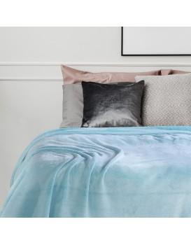 Přehoz na postel z mikrovlákna DecoKing Fluff tyrkysový