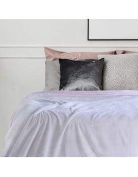Přehoz na postel z mikrovlákna DecoKing Fluff pudrově růžový