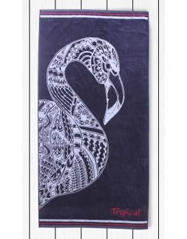 Osuška DecoKing Flamingo tmavě modrá