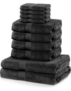 Set ručníků DecoKing Kunis tmavě šedé