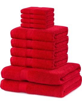 Set ručníků DecoKing Kunis červené