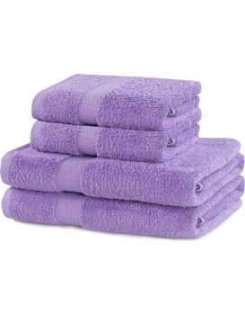 Set světle fialových ručníků DecoKing Niki