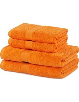 Set oranžových ručníků DecoKing Niki