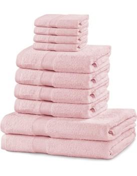 Set ručníků DecoKing Kunis světle růžové