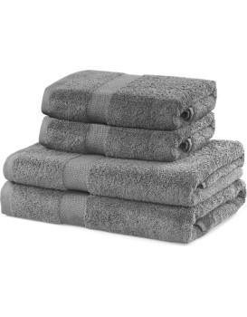 Set šedých ručníků DecoKing Niki