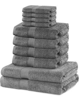 Set ručníků DecoKing Kunis šedé