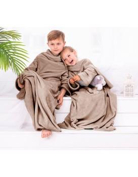 Dětská deka s rukávy DecoKing Lazy béžová