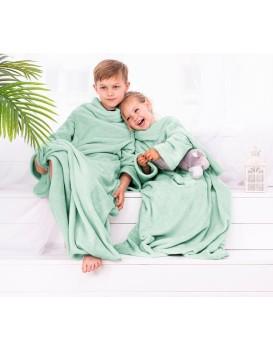 Dětská deka s rukávy DecoKing Lazy mátová