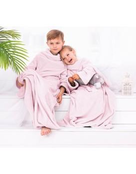 Dětská deka s rukávy DecoKing Lazy růžová
