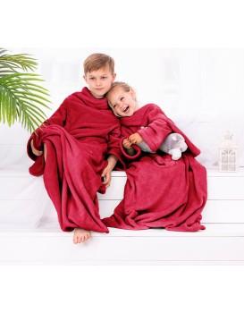 Dětská deka s rukávy DecoKing Lazy červená