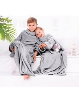 Dětská deka s rukávy DecoKing Lazy šedá