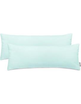 Povlaky na polštáře DecoKing Amber I světle modré