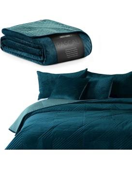 Oboustranný přehoz na postel Pascali modrý/mořský