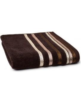Bavlněný ručník Bianna 50x90 cm hnědý