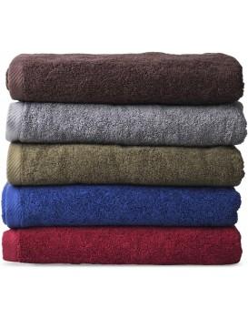 Bavlněný ručník Cezar 70x140 cm hnědý