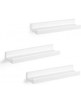 Nástěnné poličky Pheet bílé - 3 kusy