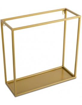 Nástěnná police Dinett 40 cm zlatá