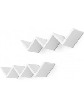 Nástěnné poličky Liach bílé - 2 kusy