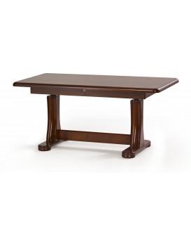 Konferenční rozkládací stolek Simon tmavý ořech