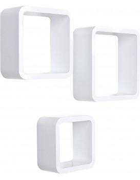 Nástěnné poličky Oimi bílé -3 kusy