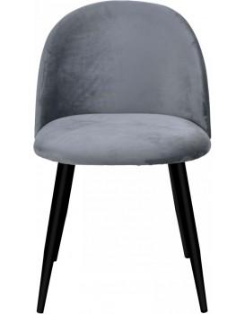 Židle SOUL VELVET tmavě šedá