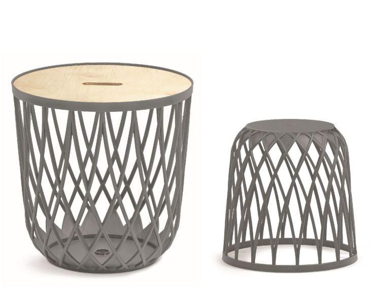PlasticFuture Sada univerzálních košů QUBO 2+1 šedý kámen