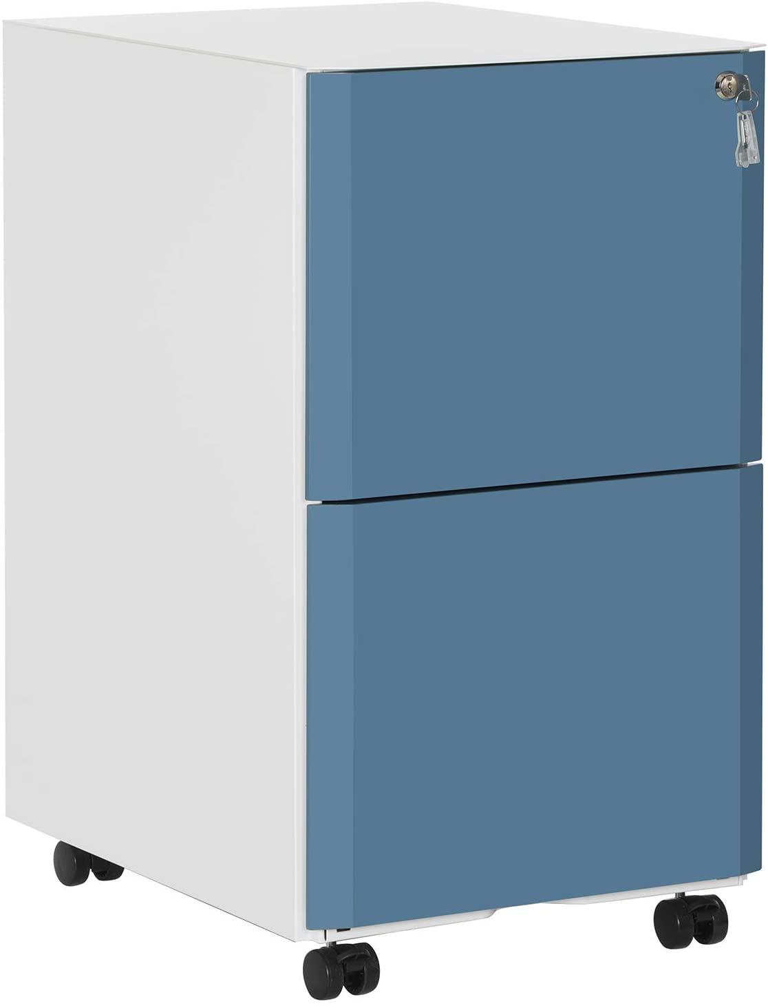 Rongomic Pojízdný kancelářský kontejner Mesa bílo-modrý