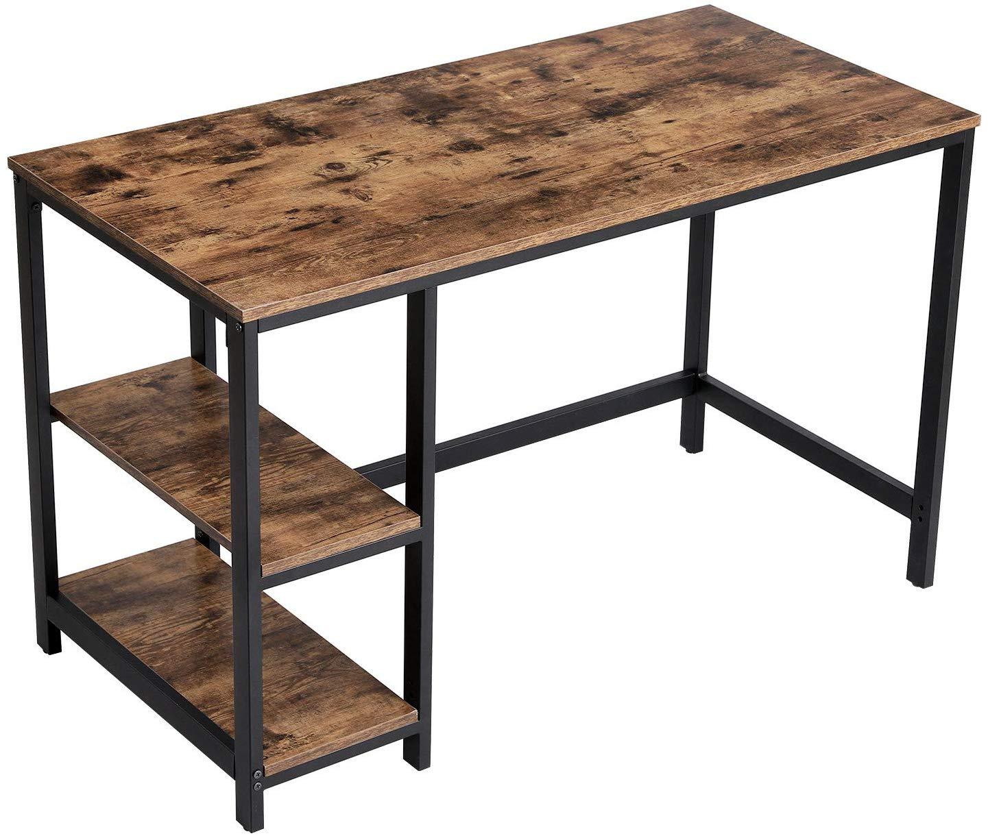 Rongomic Psací stůl VASAGLE PAUL hnědočerný