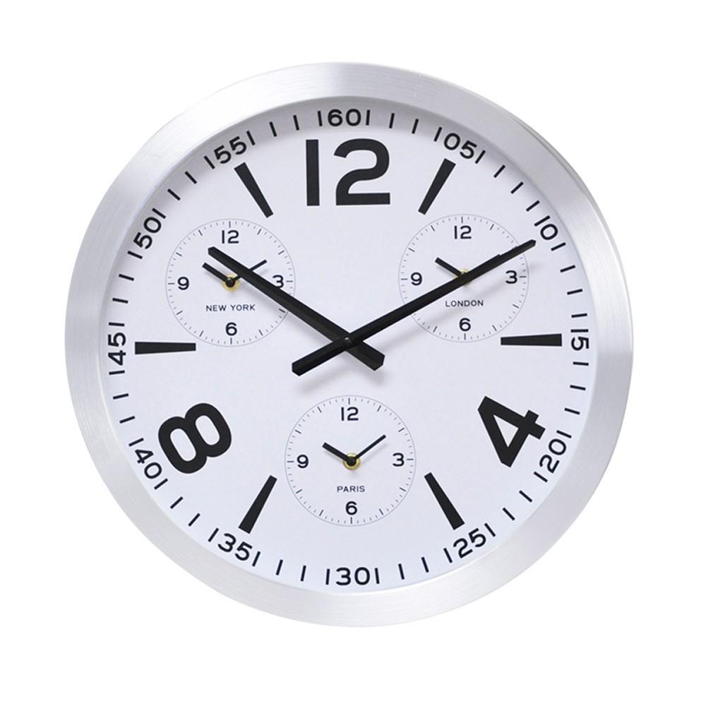 DekorStyle Moderní nástěnné hodiny bílé- 45 cm
