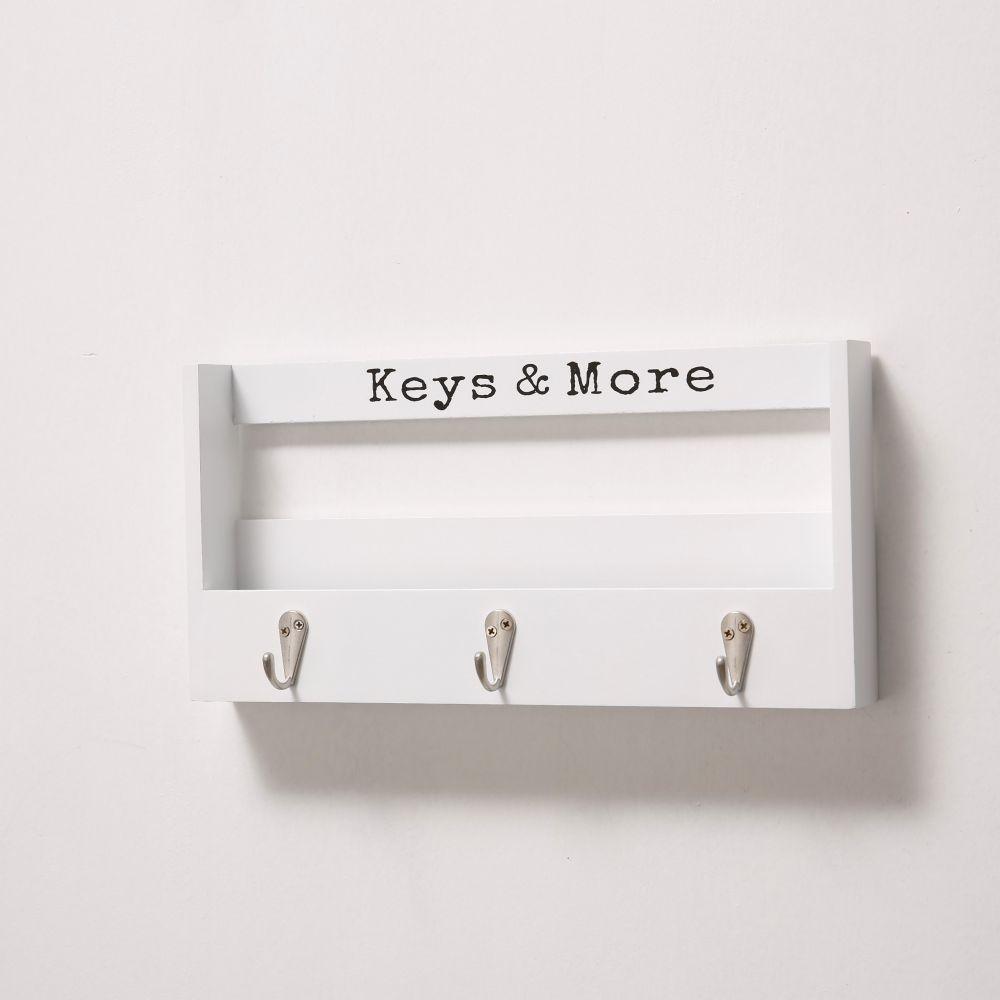 DekorStyle Věšák na klíče Kymo bílý