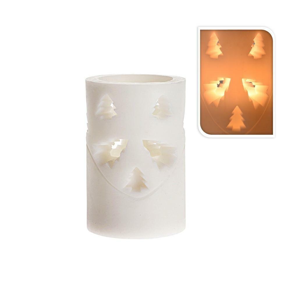 DekorStyle LED vánoční svíčka 10 cm STROMEČEK