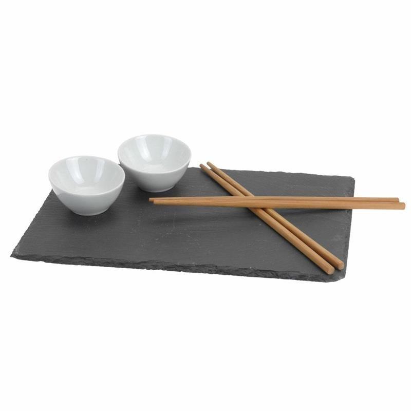DekorStyle Servírovací sada na sushi šedá