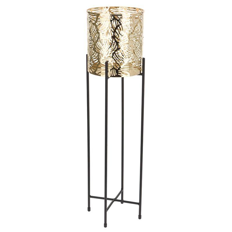 DekorStyle Květináč na stojanu SOLLIEVO 55 cm zlatý