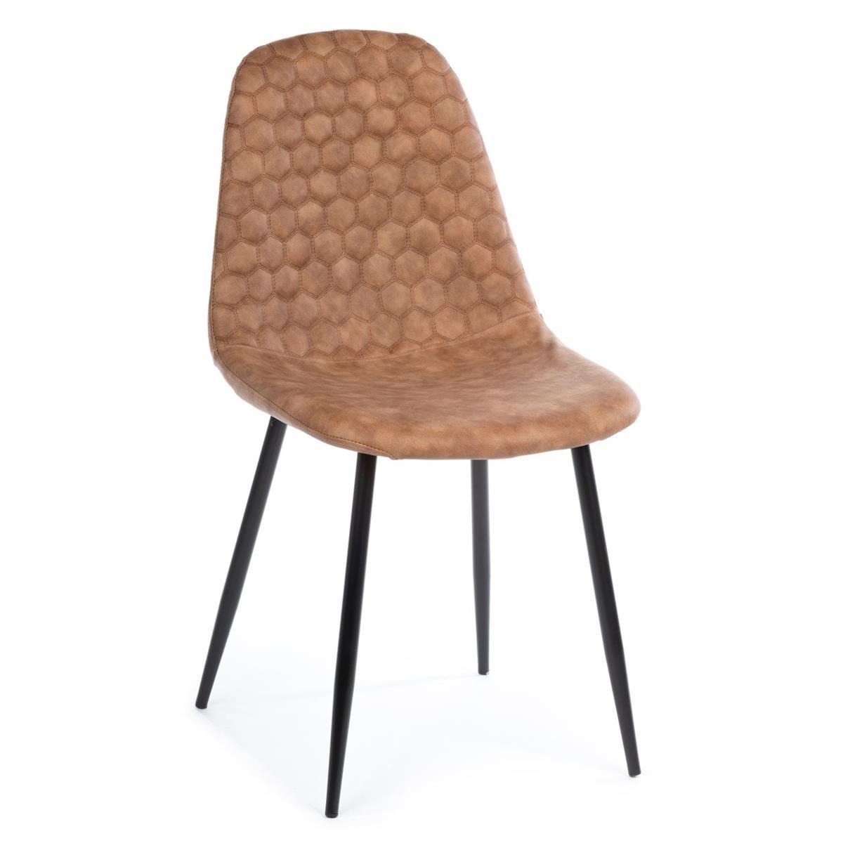 DekorStyle Židle Togi hnědá