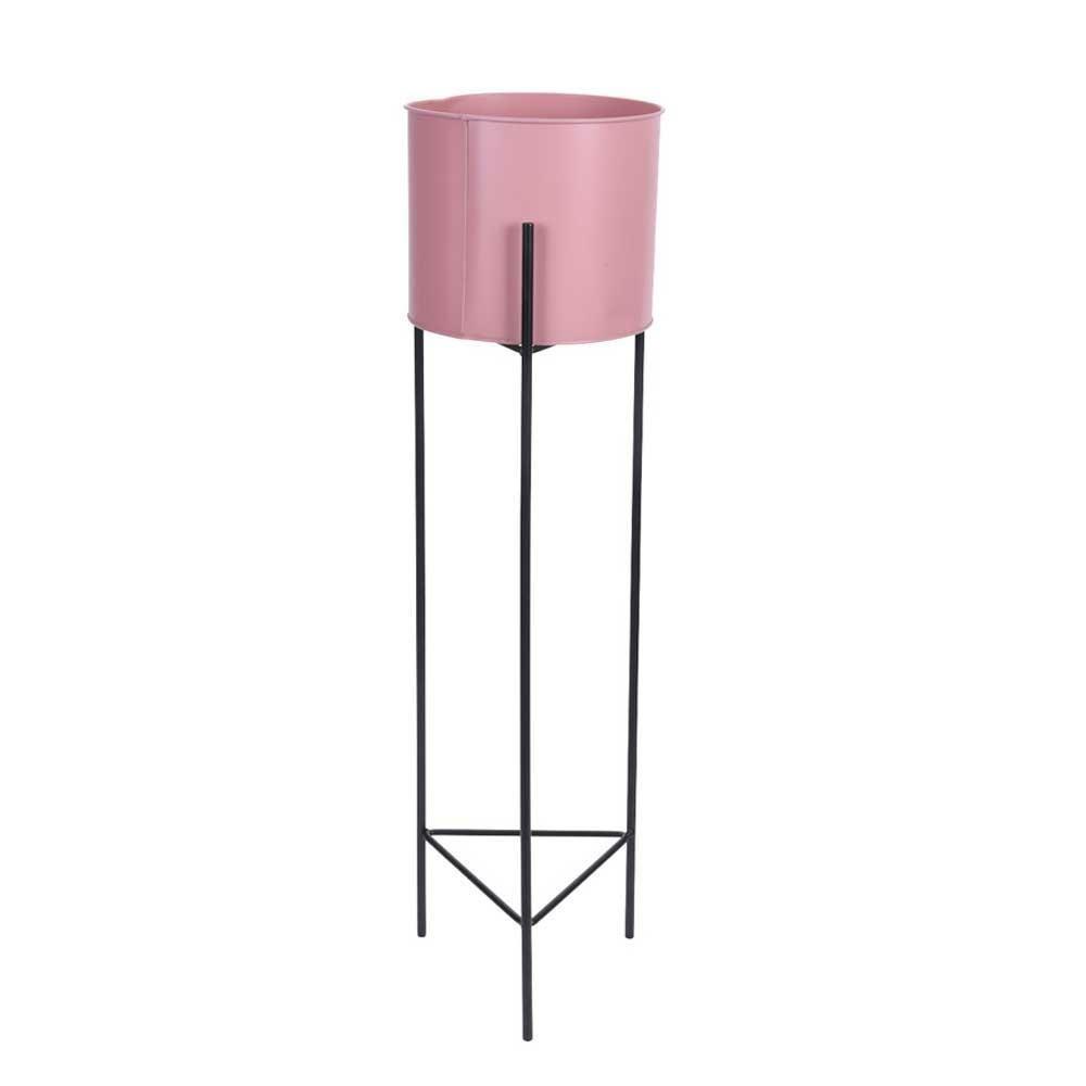 DekorStyle Moderní stojan na květiny s květináčem 70 cm- růžový