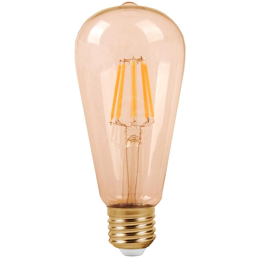 DekorStyle Moderní oválná LED žárovka 6W- teplá
