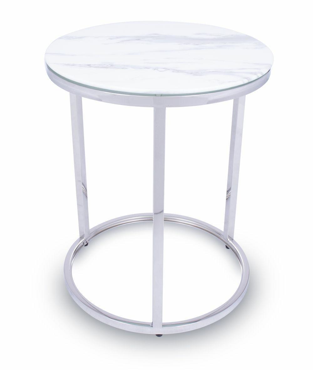 DekorStyle Konferenční stolek TREZE SILVER 45 cm