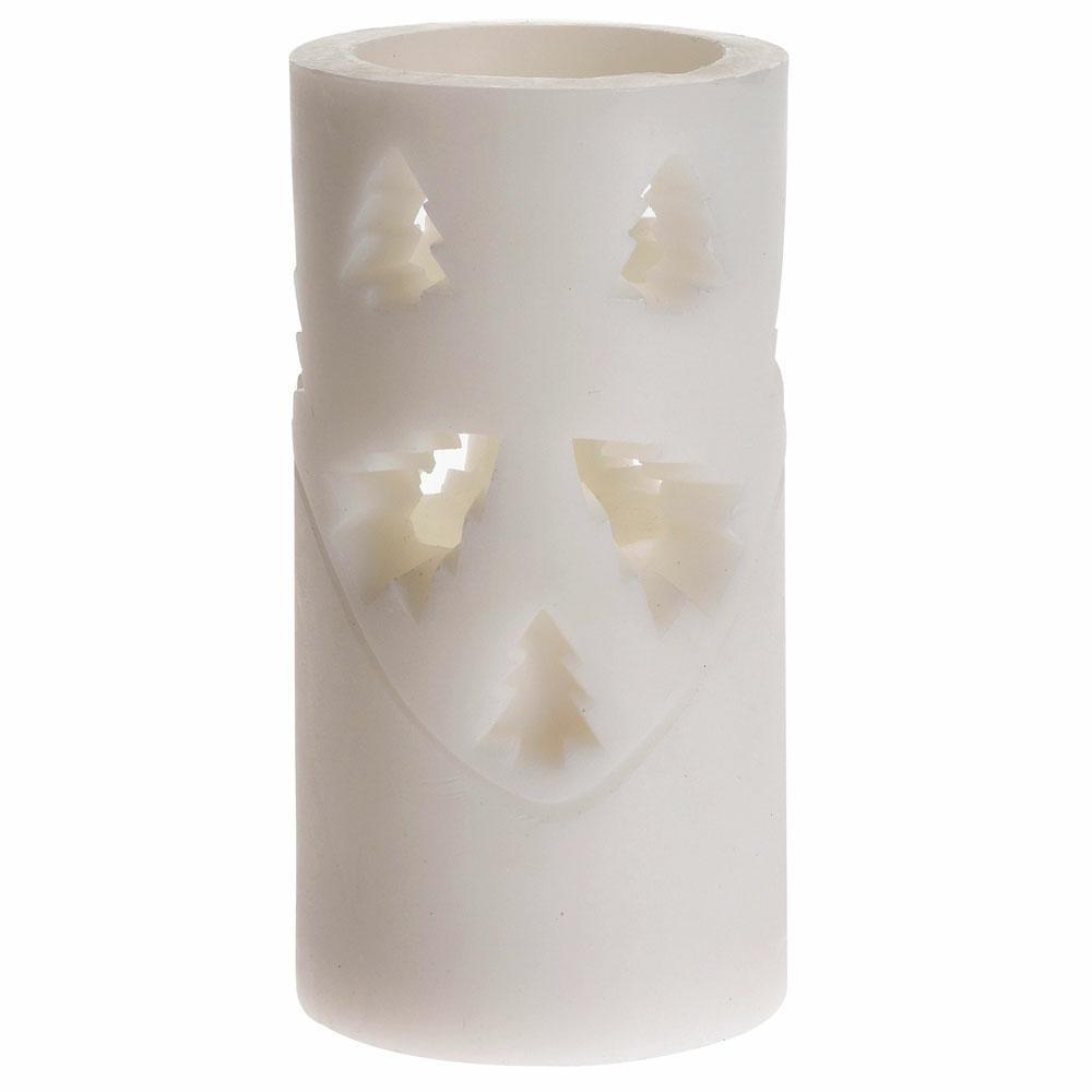 DekorStyle LED vánoční svíčka 15 cm STROMEČEK