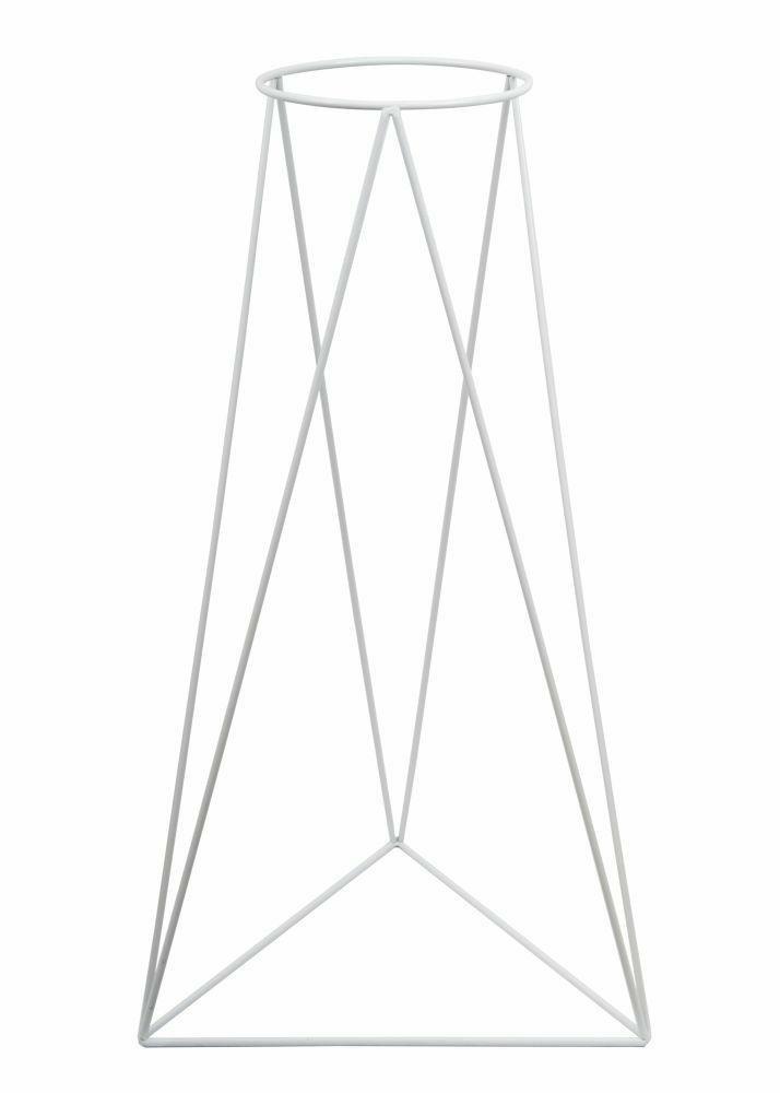 DekorStyle Stojan na květináč 90 cm bílý