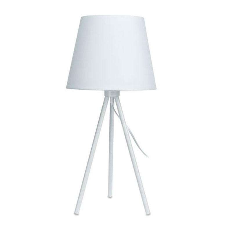 DekorStyle Bílá stolní lampa se stínidlem 55 cm