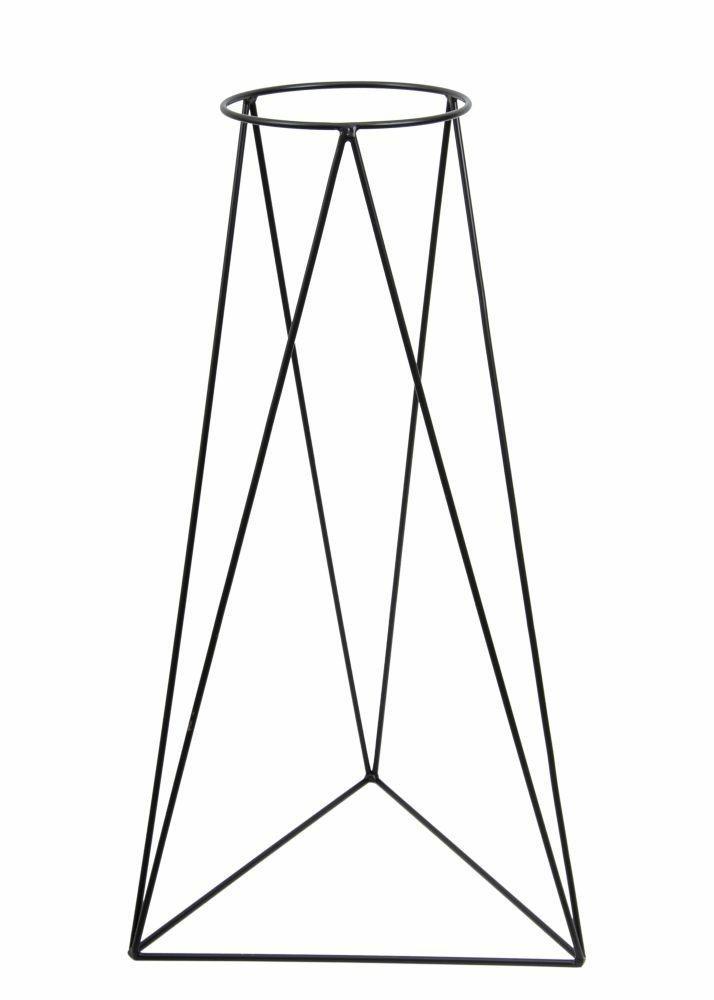 DekorStyle Stojan na květináč 90 cm černý