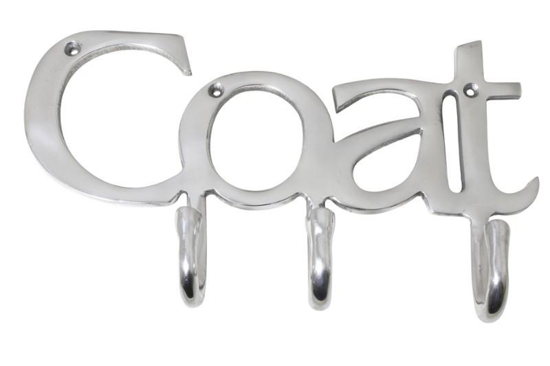 DekorStyle Nástěnný věšák COAT 33cm stříbrný